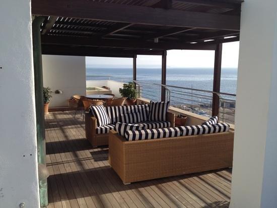 Portixol Hotel and Restaurant : Dachterrasse von Zimmer 50(Atico)
