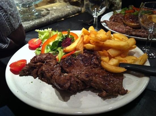 Restaurant Le Bistrot Sainte Cluque : entrecôte frites