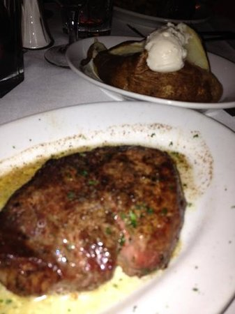 petite filet - baked potato. Fully believe I received the wrong steak so this pic may not reflec