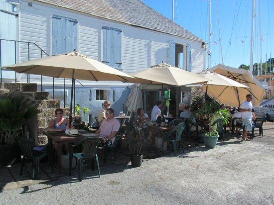 Nelson's Dockyard: HotHotHotSpot restaurant/internet cafe