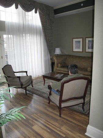 Old Mill Toronto: Sitting Romm - This is the room with the balcony attached.