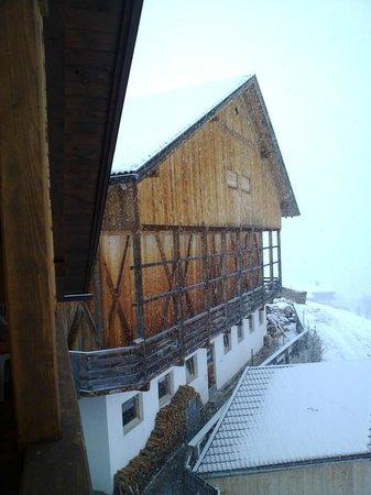 Kerschbaumhof : dalla nostra camera la vista verso la stalla