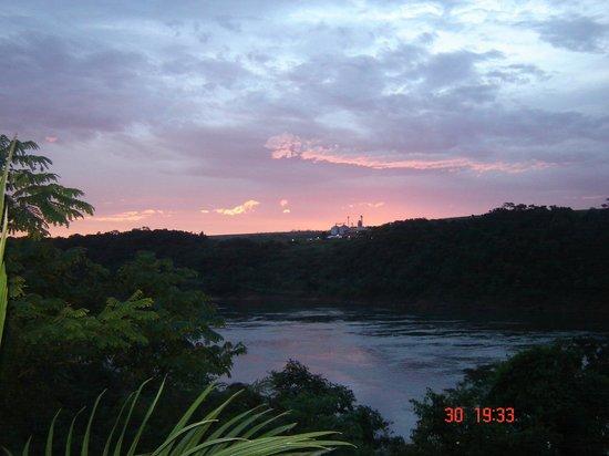 Costa del Sol Iguazu: Atardecer desde la terraza de la cabaña