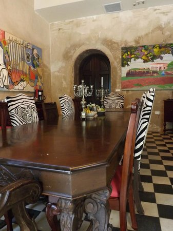 Villa Herencia: Dining/Breakfast Area