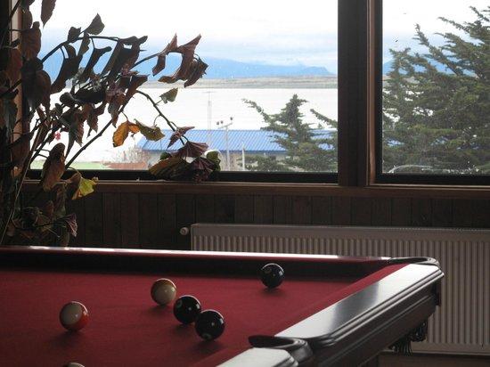 Hotel Saltos del Paine : vista sala de juegos
