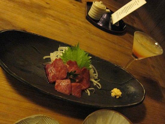 Oyado Yufunosho: Horse meat sashimi