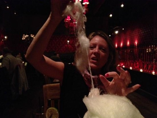 Red Lulu Cocina & Tequila Bar: Cotton Candy/Pop Rocks with the check 