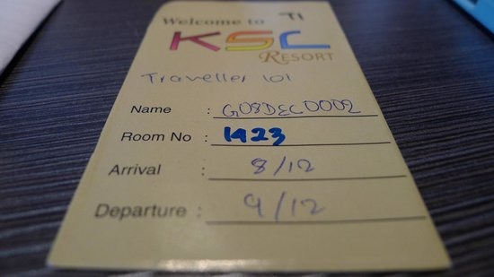 KSL Hotel & Resort: room number