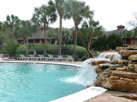 Legacy Vacation Resorts-Palm Coast: water fall at pool