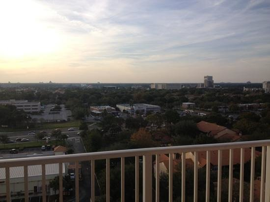 Blue Heron Beach Resort: view of Disney area-can see downtown Disney and epcot.