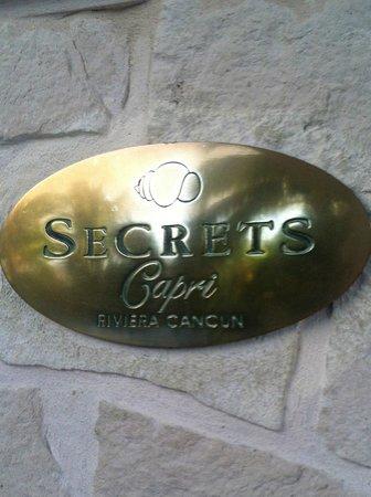 Secrets Capri Riviera Cancun: right outside the door