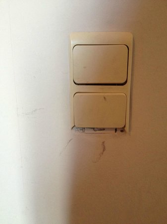 Thermae Palace Hotel: Broken lightswitch in our room