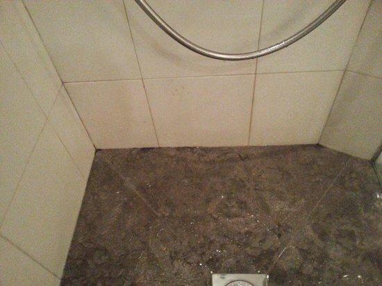 Villa Madame: douche avec de la moisissure et joins horribles