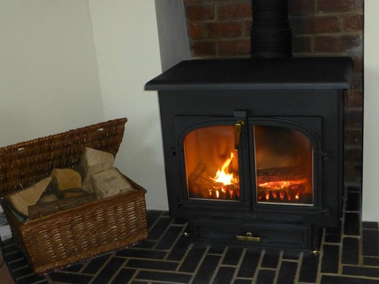 The Old Vicarage Bed & Breakfast : Warm yourself by the cosy log fire