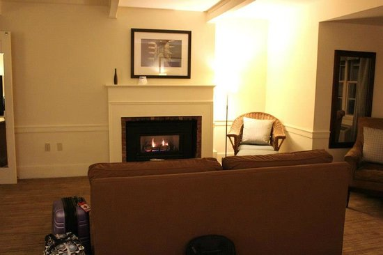 fireplace in our suite