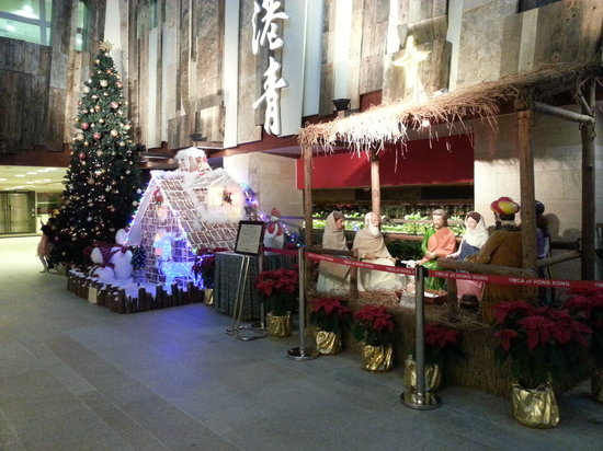 The Salisbury-YMCA of Hong Kong: Christmas in the lobby area
