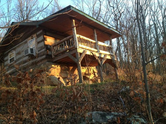 scenic veiw log cabins: Rear View Skyy's Cabin