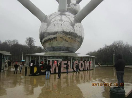 Mini-Europe: The Atomium entrance
