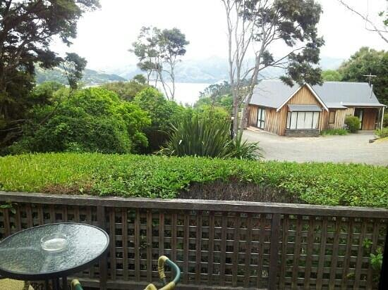 Akaroa Cottages - Heritage Collection : Vue sur la mer (sans zoom)