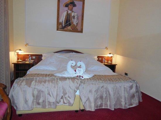 Hotel General: De jolis cygnes en signe de bienvenue