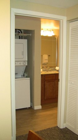 Wyndham Ocean Walk: Guest bathroom/laundry closet