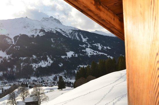 Berghaus Alpenrösli: Zimmeraussicht Vergissmeinnicht