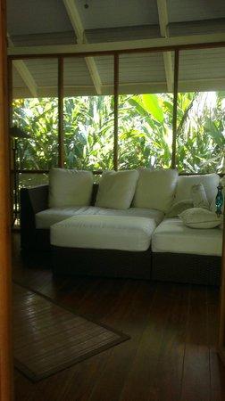 Bali Rica Casitas: Área de descanso Casa Bamboo 