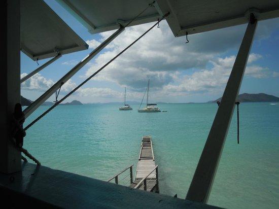 Sailor's Rest Restaurant: convenient to the dinghy dock