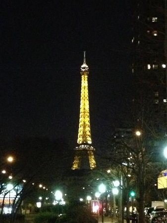 Novotel Paris Centre Tour Eiffel: simply step out of the front door of the hotel at night