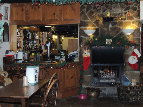 Nateby Inn: Bar Area and Log Fire