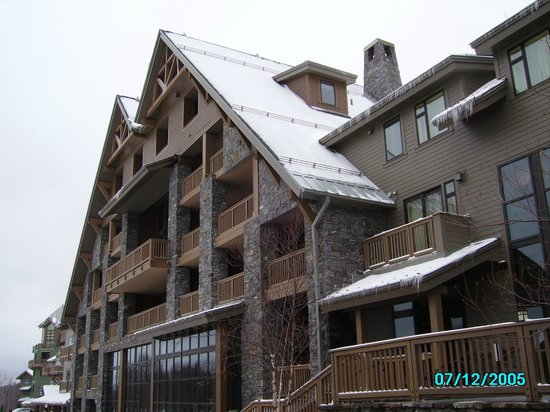Rear of Stowe Mountain Lodge