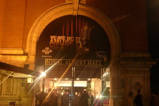 Royal Albert Hall: The entrance - make sure you check your tickets to see which door to use