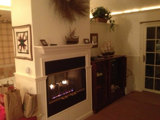 Wooden Duck B&B: The Golden Eye Suite Fireplace/Entertainment Center