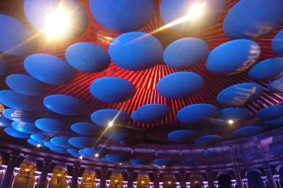 Royal Albert Hall: The ceiling is amazing - looks like a space ship!