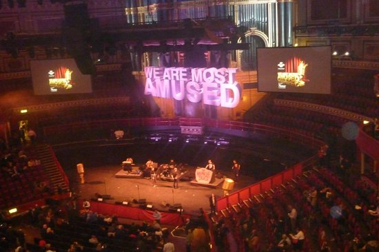 Royal Albert Hall: Stage - highly configurable depending on the show