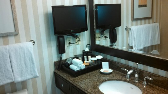 Hyatt Regency Reston: TV IN BATHROOM