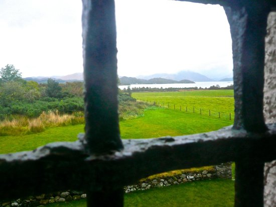 Barcaldine Castle: view from bathroom window