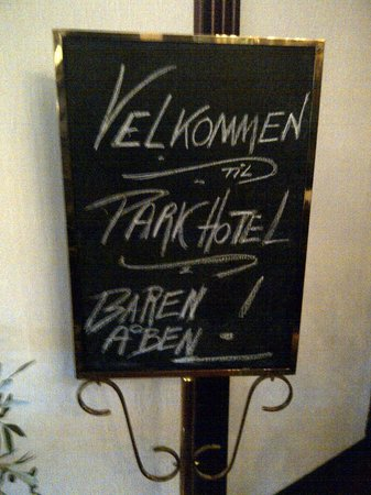 Park Hotel: Welcome