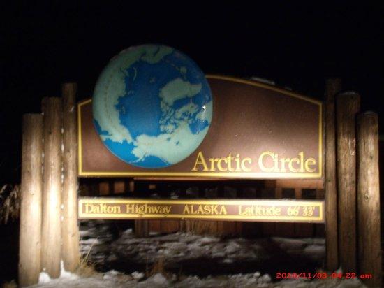 1st Alaska Tours: Artic Circle Sign