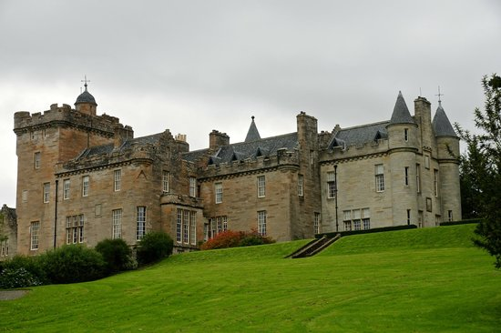 Glenapp Castle: view from the garden