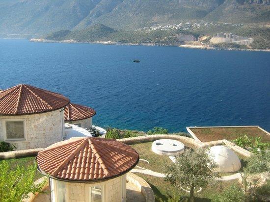 Deniz Feneri Lighthouse: View from the bedroom balcony/room