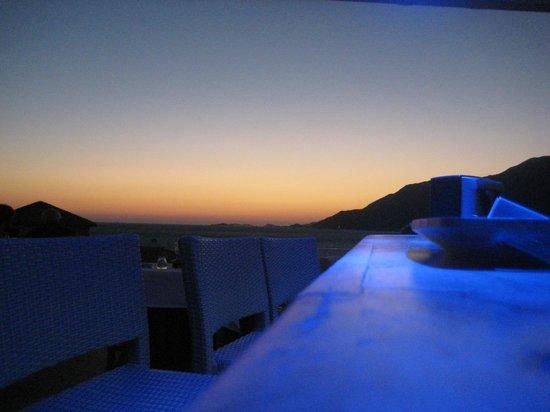 Deniz Feneri Lighthouse: Sunset view from the bar