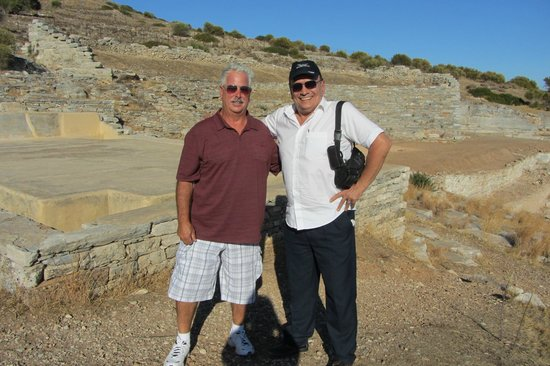 Tour Trip Greece Day Tours : Thanos and Lou at Lavrion silver mine