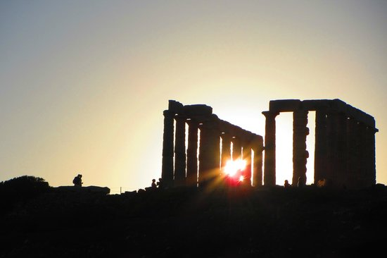 Tour Trip Greece Day Tours : Sunset at Cape Sounio