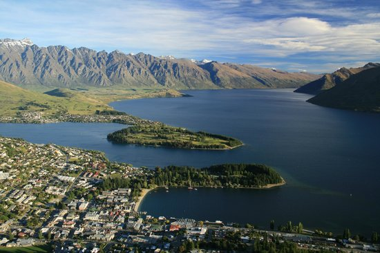 Kemnay: Queenstown from top of hill on Gondola ride