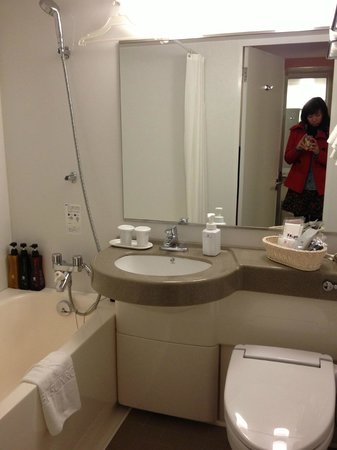 โรงแรมซันรูท พลาซ่า ชินจูกุ: Small bathroom