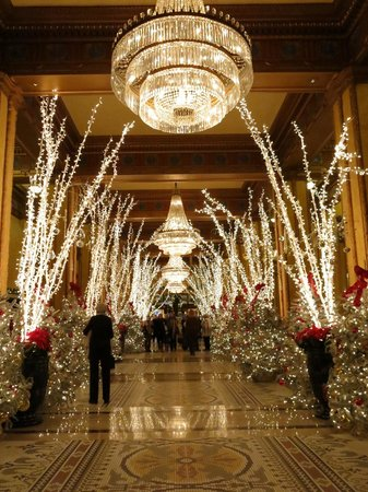 The Roosevelt New Orleans, A Waldorf Astoria Hotel: Holiday decorations in the lobby