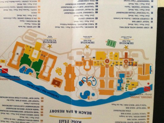 Iberostar Rose Hall Beach Hotel: Map of the 3 Iberostar Resorts