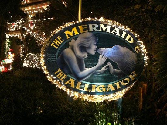 The Mermaid & The Alligator: Sign in front