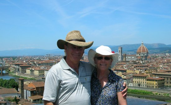 Hotel Rivoli: View of Duomo in Florence from the hills surrounding the city